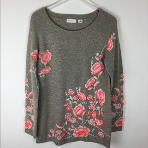 Sleeping On Snow Ranunculus sweater size L